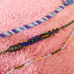 ⚡SALE 3 Handmade friendship bracelets in colors